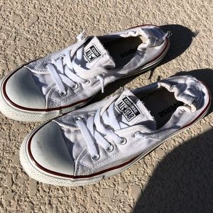 Converse Sneakers Shoes White Like New 10 Ladies